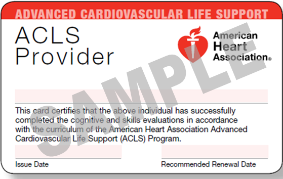 acls provider association heart american cards support course advanced certification card aha cardiac renewal training completion classes cpr cardiovascular guidelines