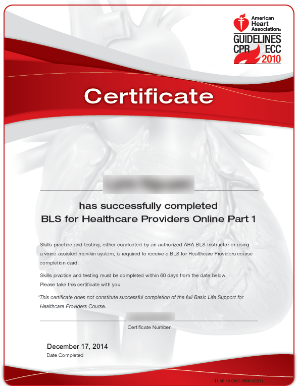 bls heart american association certificate healthcare provider course test learning heartcode skills practice