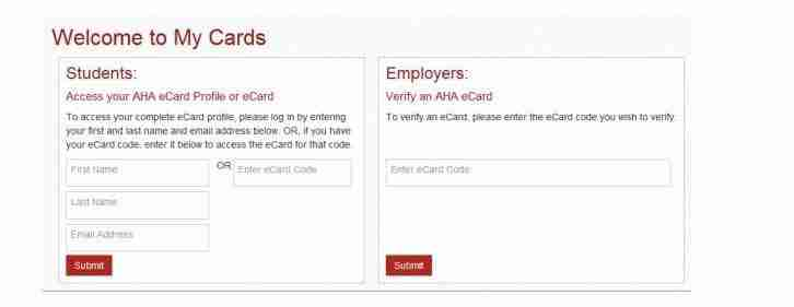 AHA ecard instructions Verify AHA eCard